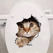 3d cats toilet wall stickers furniture premier 3d cats toilet wall stickers