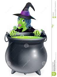 witch and cauldron cartoon stock photos image 33936593