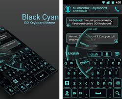 go keyboard theme apk go keyboard black cyan theme apk version 3 7