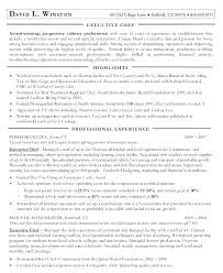 Resume Sous Chef Head Cook Resume Sample Sous Chef Personal Summary Executive