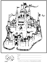 awesome coloring page sand castle ginormasource kids