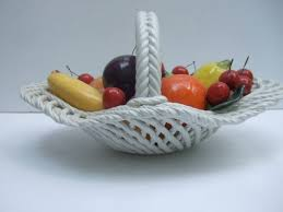 fruit basket porcelain fruit basket designed by capodimonte made in italy for