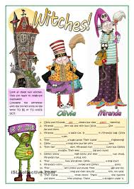 witches be and have esl worksheets of the day pinterest