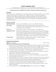 Resume Of It Director It Resume Sample Information Technology It Job Resume Sample Pg1