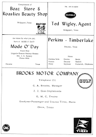 texas power and light company index of names m z for 1956 1959 chico tx yearbooks