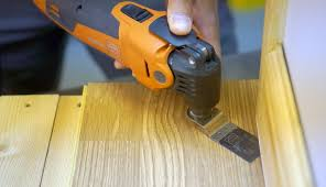 how to cut skirting boards and door stops with a multi cutter
