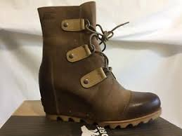 s boots size 9 s sorel joan of arctic wedge mid boots waterproof cafe