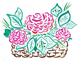 drawing of flower basket how to draw a flower vase with oil pastel