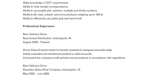 Delivery Driver Resume Example by Driver Resumes Delivery Driver Resume Sample Beer
