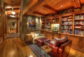 craftsman library with hardwood floors exposed beam zillow