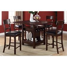 arezzo 5 pieces counter height dining set with wine storage and