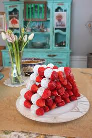 donut holes u0026 strawberries kabobs baby shower food hosting