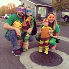 teenage mutant ninja turtle family costume halloween pinterest