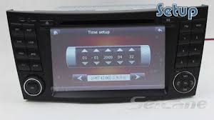 remove and replace benz cls w219 autoradio with dvd bluetooth ipod