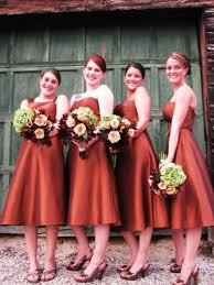 picture gorgeous fall bridesmaids dresses