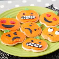 cookie emoji pumpkin emoji cookies