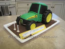 coolest john deere tractor cake for 2 year old boy birthday