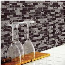 peel and stick backsplashes for kitchens roommates traditional marble sticktiles 4 pack walmart com