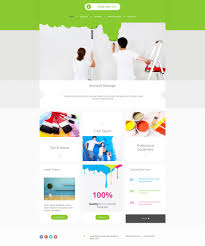 painting company website builder responsive moto cms 3 template