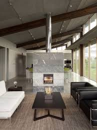 Tiled Fireplace Wall by Fireplaces As Room Dividers 15 Double Sided Design Ideas