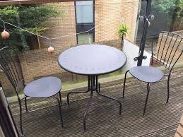 Ikea Teak Patio Furniture - black ikea lacko outdoor patio table u0026 2 chairs like new metal