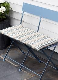 bistro bench cushion in clay stripe cotton garden trading