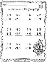 christmas math addition with regrouping free 2nd grade math