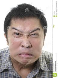 Asian Meme Face - angry distorted asian face stock photo image of annoy 11332452