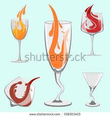 beautiful wine glasses set beautiful wine glasses bar stock vector 358303403 shutterstock