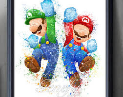 Super Mario Home Decor Mario Brothers Etsy