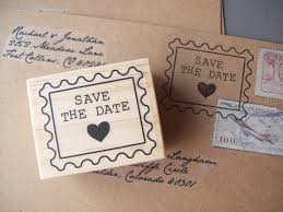 Stamps For Wedding Invitations Save The Date Rubber Stamp Postage Stamp Style With Heart For