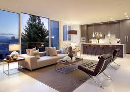 modern large interior living room of the can be decor with brown