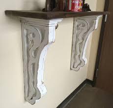 antique style corbellarge corbels with shelf hallway corbel