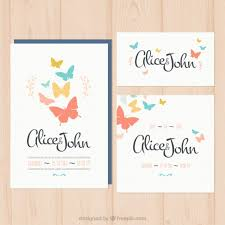 butterfly wedding invitations wedding invitation with butterflies vector premium