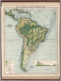 south america map buy south america central commercial chart base map includes