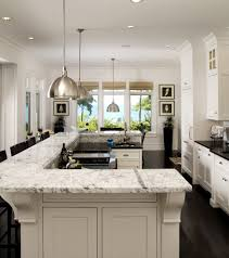 kitchen with two islands charming u shape modern kitchen with breakfast bars with brown