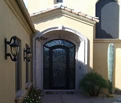 iron entry door in az 85044 custom ornamental iron railing