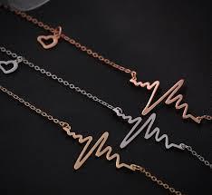 necklace stores online images Ekg charm necklace electrocardiogram pendant heartbeat heart jpg