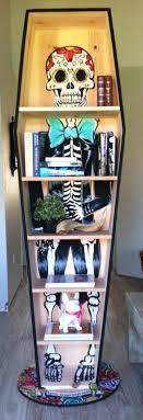 dia de los muertos home decor coffin shaped dia de los muertos bookcase laissez les bons temps
