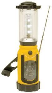 led portable lanterns rechargeable emergency light am fm radio