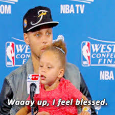 Blessed Meme - riley curry blessed cuteness animated gif popkey