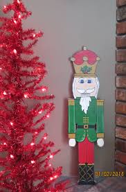 Wood Christmas Decoration For Outdoors by Christmas Outdoor Nutcracker Wood Outdoor Yard Art Lawn Ornament