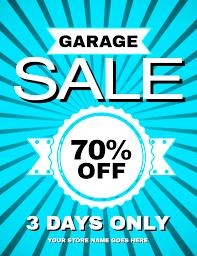 new flyer templates for spring u0026 garage sales design studio