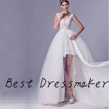 wedding dress pendek trendy tinggi rendah dilepas rok wedding dress pendek depan