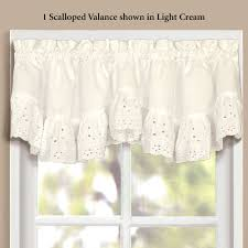 vienna ruffled eyelet tier window treatment