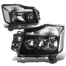 nissan titan fog lights 15 nissan titan 05 07 armada crstal headlights black clear