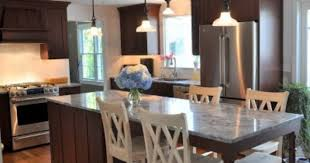 Kitchen Island With Table Seating Design 500636 Kitchen Island With Seating For 5 5 Design Ideas