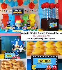 sonic party supplies kara s party ideas arcade pac sonic mario themed