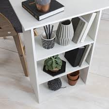 Office Desk With Shelves by Home Office Desk Computer Table Workstation With 3 Drawers U0026 3