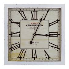 yosemite home decor 16 in square mdf wall clock in distressed